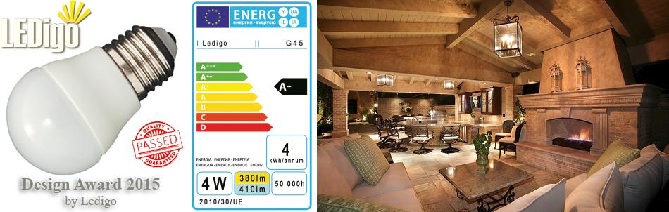 Żarówka LED Ledigo 4W biała ciepła jak 60W