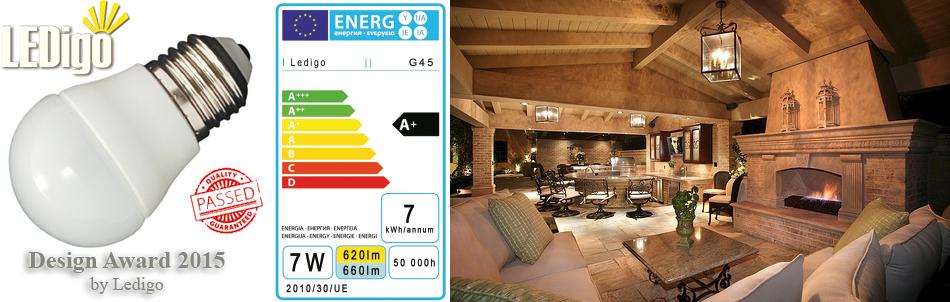 Żarówka LED Ledigo 7W biała ciepła jak 60W
