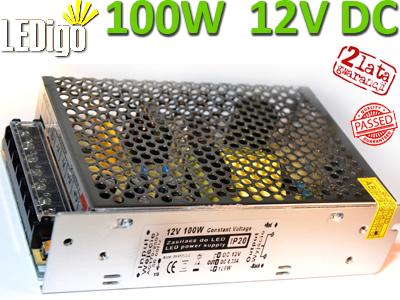 Zasilacz 100W do LED 12V DC - prąd stały, profesjonalny, Ledigo, najlepszy